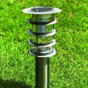 Luces solares para jardín en acero inoxidable