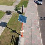 Tótem de energía solar en la Costanera de Asunción